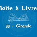 Boîte à livres – 33 – Gironde