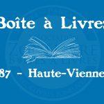 Boîte à livres – Code postal, ville – (87) Haute-Vienne