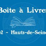 Boîte à livres – Code postal, ville – (92) Hauts-de-seine